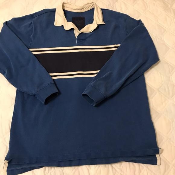 d53f2fbe L.L. Bean Shirts   Vintage 90s Ll Bean Rugby Shirt Ls Heavy L   Poshmark